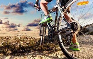 La bicicletta per la schiena